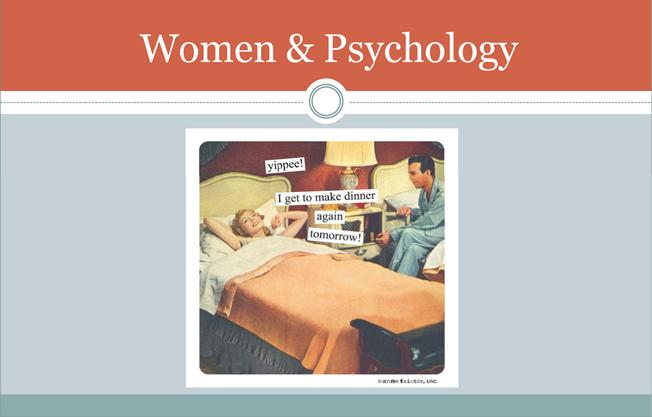 Women phycology
