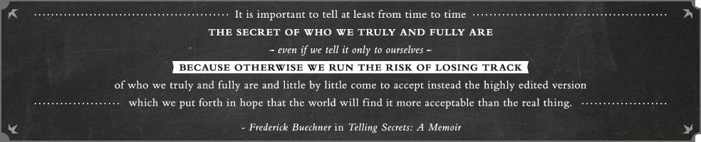 Frederick Buechner in Telling Secrets: A Memoir